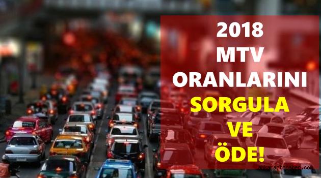 2018 YILI MTV SORGULAMA VE ÖDEME!