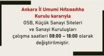 Ankara'da mesai düzenlemesinde değişiklik!